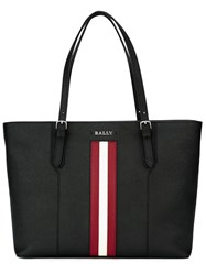 Bally Stripe Detail Tote Black