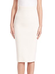 Donna Karan High Waist Pencil Skirt Porcelain
