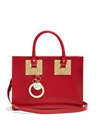 Sophie Hulme Medium Albion Leather Box Bag Red