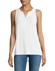 Lord And Taylor Pleated Back Shell Top White