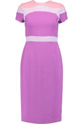 Raoul Trinity Color Block Crepe Dress Magenta