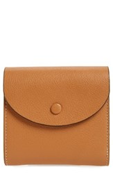 Halogenr Women's Halogen Leather French Wallet Brown Tan Indochine