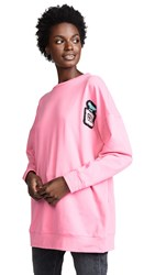 Michaela Buerger Oversize Perfume Bottle Sweatshirt Pink