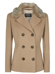 Precis Petite Double Breasted Wool Coat Mid Neutral