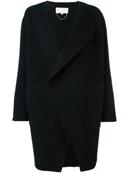 Vanessa Bruno 'Waterfall' Oversized Coat Black