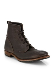 Walk Over Rutherford Lace Up Leather Boots Dark Brown