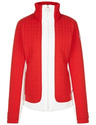 Fusalp Red And White Lindsey Ski Jacket