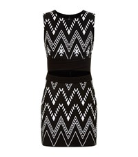 Dkny Tribal Cut Out Front Dress Female