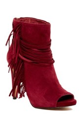 Vince Camuto Ferdinand Fringe Bootie Red
