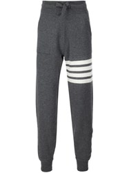 Thom Browne Stripe Detail Sweatpants Grey