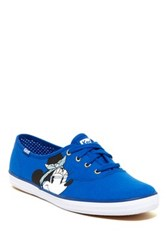 Keds Minnie Mouse Face Low Sneaker Blue