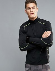 New Look Sport Jacket With Funnel Neck And Zip In Black Black