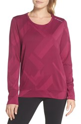 Brooks Array Tee Plum Eclipse Jacquard