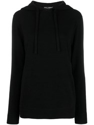 Dolce And Gabbana Drawstring Hooded Jumper Black