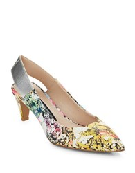 French Connection Kourtney Floral Sling Back Pumps Multi Colored