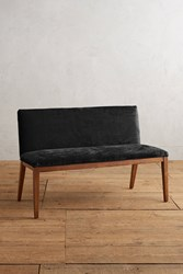 Anthropologie Slub Velvet Emrys Bench Black
