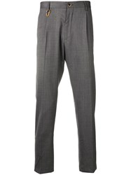 Low Brand Slim Fit Tailored Trousers Grey