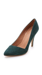 Madewell The Mira Suede Heels Gallery Green