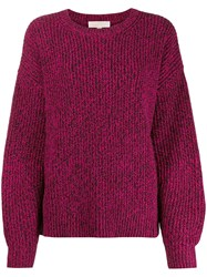 Michael Michael Kors Loose Fit Knitted Jumper Pink