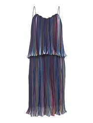 Little White Lies Thin Strap Overlay Pleated Mini Dress Multi Coloured Multi Coloured