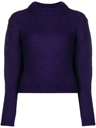 Roseanna High Neck Sweater Pink And Purple