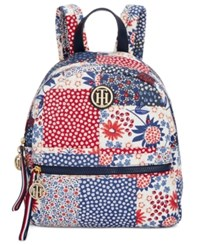 Tommy Hilfiger Patchwork Small Dome Backpack Red Multi