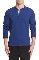 Rag And Bone Men's Standard Issue Slub Cotton Henley Bright Blue