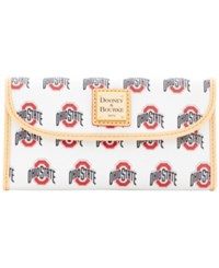 Dooney And Bourke Ohio State Buckeyes Large Continental Clutch White