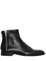Givenchy Leather Ankle Boots W Zip Details Black
