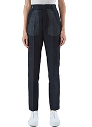 Rick Owens Sheer Layered Straight Leg Pants Black