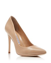 Charles David Rebecca Pointed Toe High Heel Pumps Nude