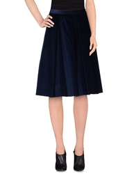 Manuel Ritz Knee Length Skirts Blue