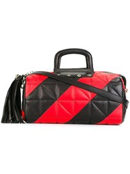 Sonia Rykiel Quilted Barrel Bag Black