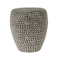 Pols Potten Dot Stool Silver