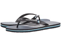 Quiksilver Molokai Tijuana Black Blue Grey Men's Sandals Gray