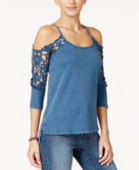 American Rag High Low Cold Shoulder Top Only At Macy's New Indigo