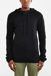 Strand Marion Mixed Knit Hooded Sweater Washed Black
