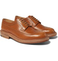 Grenson Sid Triple Welted Leather Wingtip Brogues Brown