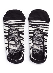 Happy Socks Zebra Liner Animal Print