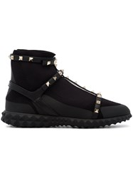 Valentino Rockstud Body Tech Sock Sneakers Black