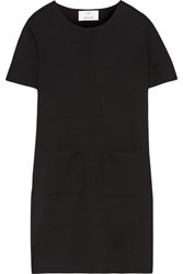 Allude Wool Mini Dress Black