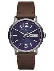 Marc By Marc Jacobs Fergus Stainless Steel Watch Brown