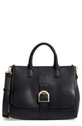 Sole Society Zola Faux Leather Satchel Black