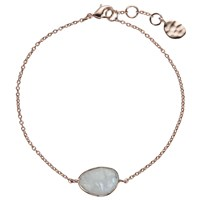 John Lewis Rose Gold Plated Organic Rainbow Moonstone Bracelet Rose Gold