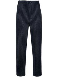Forme D'expression Pinstripe Trousers Polyester Wool S Black