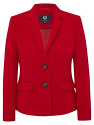 Viyella Cashmere Blend Teddy Jacket Red