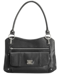 Style And Co. Slouchy Zip Satchel Black
