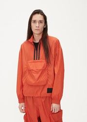 Y 3 Packable Half Zip Shell Track Jacket Icon Orange