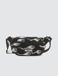 Ashley Williams Sperm Print Shearling Belt Bag Black