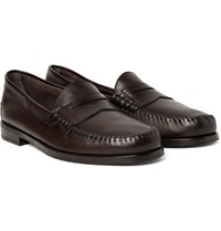 Tom Ford Crewe Leather Penny Loafers Dark Brown
